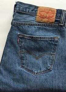 Levis 501 Mens 34x34 Denim Jeans Medium Wash Button Fly Actual 34x32 Excellent