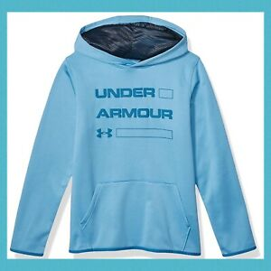 Under Armour boys Armour Fleece Wordmark Hoodie $19.99