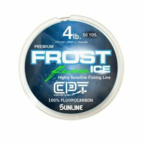 CLAM OUTDOORS FROST CLEAR ICE FISHING FLUOROCARBON LINE VARIOUS TESTS