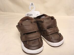NEW Rising Star Baby Shoes Size 2 Brown Suede Work Boots Infant 6 9 Months $12.00