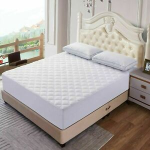 Mattress Pad Deep Pocket Cooling Breathable Topper Fitted Mattress Pad Protector $21.50