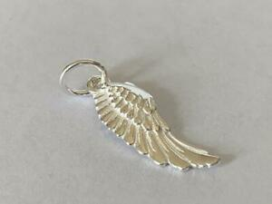 Genuine 925 Sterling Silver Angle Wing Pendant Small Charm Girls Women AU $9.99