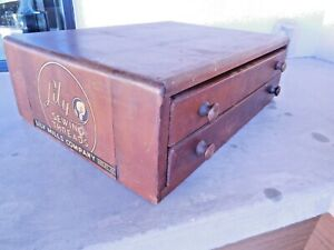 Original antique quot;LILY SEWING THREADSquot; Wooden store dispay cabinet N.C. $125.00
