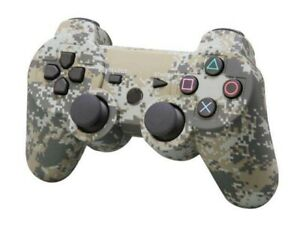 PS3 Controller DualShock Wireless SixAxis Controller GamePad US Red camo Blue $16.99