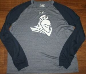 Under Armour Mens Locker Long Sleeve T Shirt Heat Gear Blue Size Medium EUC $15.99