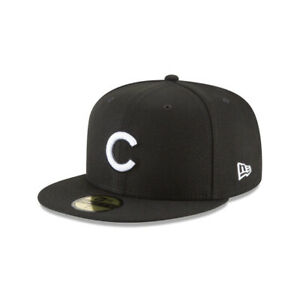 Chicago Cubs MLB New Era 59FIFTY Fitted Hat Black White