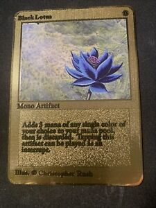 MTG MAGIC THE GATHERING GOLD METAL BLACK LOTUS RARE CARD