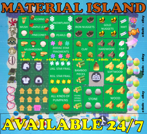 All Materials Treasure Island Trip For Animal Crossing New Horizon $14.99