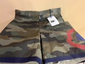 MONCLER Bermuda Flat Front Camouflage Shorts; Sz 50 XL;US NEW WTAGS