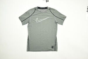 Mens Nike XL Tee Shirt T Nike pro DRY FIT Short Sleeve Solid Gray Polyester $23.00