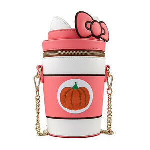 Loungefly Sanrio Hello Kitty Pumpkin Spice Crossbody Bag Purse NEW