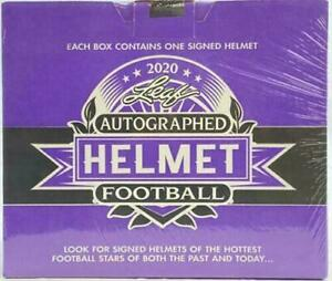 2020 Leaf Autographed Mini Helmet Football Edition Factory Sealed Box NEW $129.50