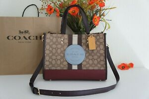 NWT COACH 4113 Dempsey Carryall In Signature Jacquard w Stripe And Coach Patch