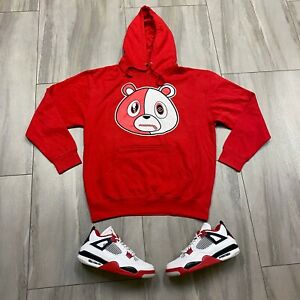 Hoodie to match Air Jordan Retro 4 Fire Red Sneakers. E Bear Red Hoodie $52.00