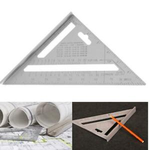 7inch Aluminum Alloy Measuring Right Angle Triangle Woodworking Ruler Tool G1U4 C $6.36