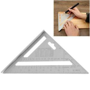 7inch Aluminum Alloy Measuring Right Angle Triangle Woodworking Ruler Tool O2P6 $7.57