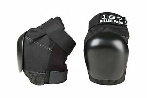 187 Killer Pads Skate and Skateboarding Knee Pads Pro Knee Pad Black X Small $125.59