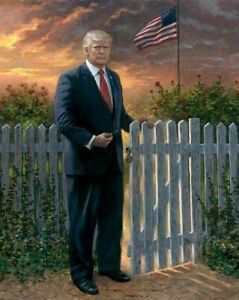 PRESIDENT DONALD J TRUMP THE GATEKEEPER 45TH USA WHITE HOUSE 8X10 PHOTO POSTER