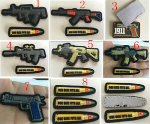 Army weapons for bullet Tactical Hook Loop PVC Patch Badge armbands $3.99