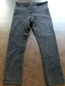 LULULEMON WUNDER UNDER BLACK CAPRI CROPPED LEGGINGS SIZE 4 $34.99