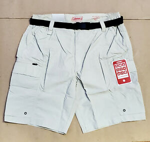 COLEMAN Mens Shorts Color: Cement Hiking Performance Belted Choose Size $21.99