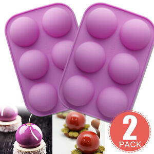 2X Half Ball Sphere Round Silicone Cake Mold Muffin Chocolate Cake Baking Mould $9.95