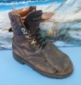 Carolina Steel toe Safety Boots Work Leather Style 819 Mens 10 D