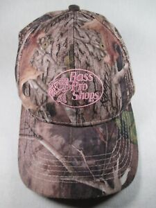 Bass Pro Shops Fishing Pink Camo Adjustable Baseball Cap Hat Great Condition