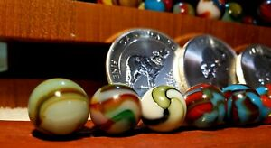 Antique marble collection Peltier Glass Akro Agate Alley Champion German $500.00