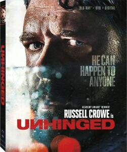 UNHINGED 2020 BLU RAY DVD SLIPCOVER LIKE NEW NO DIGITAL COPY RUSSELL CROWE $14.50