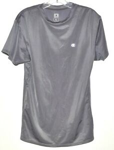 Champion Double Dry Shirt Compression Short Sleeve Gray Youth Sz XL NWOT $9.95