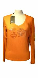 DIANA GALLESI under Jackets Stretch Long Sleeve Size 44 Orange Discount $57.15
