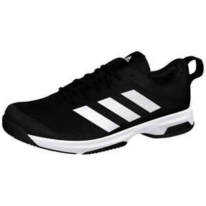 Adidas Mens Running Shoes Black White Mens Athletic Sneaker New $48.99