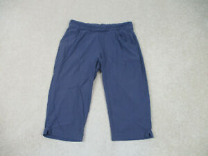 Columbia Pants Womens Large Blue Gray Capri Outdoors Hiking Casual Ladies A14