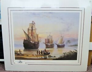 Michael Whitehand quot;Discovery of Americaquot; Signed Lithograph Artist Proof B4954 $49.95