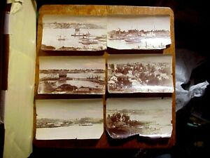 6 NAVY YARD CALIFORNIA 1890s 5 X 8 Antique PHOTOS with Sailing amp; Steam Ships