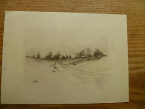 E.C.Rost Etching 1890 $50.00