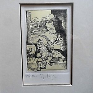 Etching LE Signed quot;Woman Crumbling Under the Expectations of Domestic Choresquot; $15.00