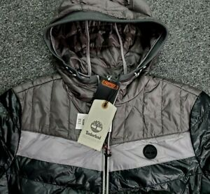 Timberland Thermore EVOdown Men Sz: XL Black Gray Packable Hood Jacket NWT $178 $129.99
