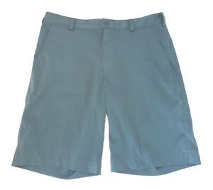 Nike Golf Mens Fit Dry Flat Front Golf Shorts Blue Size 32 $27.98