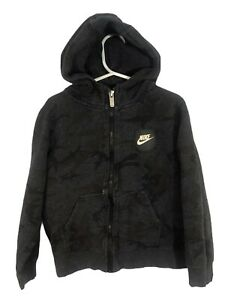 Nike Boys Camo Full Zip Hooded Sweatshirt Size 6 Medium $10.16