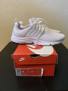 Nike Mens Air Presto Running Shoes White 848132 100 Size 10 $85.00
