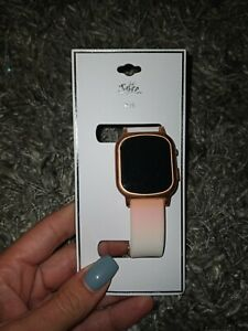 Justice Girls LED WristWatch Adjustable sunset ombre new $19.95