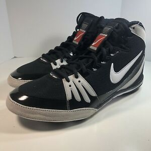 Nike Mens Size 11 Freek Wrestling Shoes Black White High Top 316403 011 $100.00