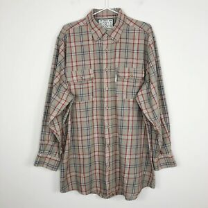 Over Under Mens The Crosscut Shirt Plaid Cotton Button Down Made In USA Size XL $29.99