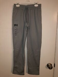 NEW Boys Kids Under Armour Pants Gray Size Youth Medium Cold Gear Fleece lined $21.99
