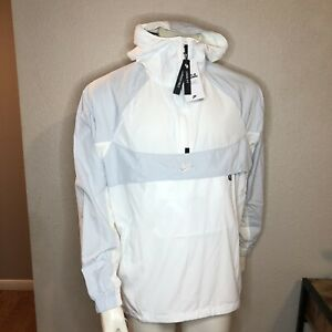 Nike Running Pullover Jacket Hooded Packable White BV5385 100 Size Medium $79.95