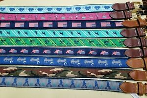 Mens Simply Southern Belt Multiple Styles Rugged Preppy College Fishing *READ DS