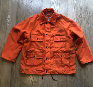 Winchester Hunting Field Jacket Vintage 90s Hunter Orange Medium Utility Pockets