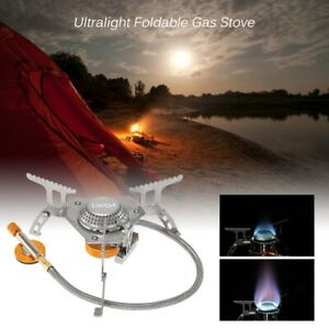 Outdoor Camping Gas Stove Foldable Outdoor Cooking Hiking Backpackers Cookware